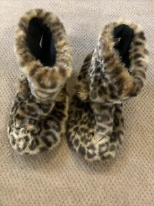 Animal Print Slipper Boots By Next Size M New
