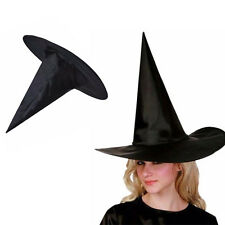 Men Women Black Witch Hat For Halloween Costume Cosplay Party Classic Witch Cap
