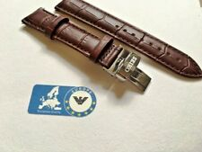 Watch Strap for Seiko 20mm Leather Brown with Brown stitching Buckle Incl SE2