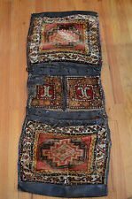 ANTIQUE PILE SADDLE BAG HEYBE ANATOLIAN NOMAD YORUK KURD