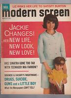 Modern Screen Magazine March 1965 Jackie Kennedy Mia Farrow Frank Sinatra