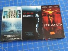 Lot 3 Thriller Horror VHS Movies The Ring Insomnia Stigmata ex rentals