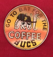 Rare 1960's Pittsburgh Pirates Hills Coffee Baseball Flicker Pin Button Antique
