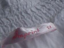 WhiteBlueFloralEmbellishedScoopedNeckRuched100%CottonSize12