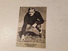 Marshall Wells University of Minnesota  1933 Football Pictorial Roto-Panel