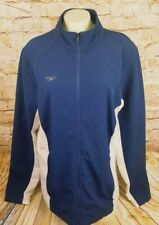 Speedo Swimming Polyester Full Zip Warm Up Jacket Women M