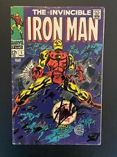 The Invincible Iron Man 1 Stan Lee Signature Signed VERY GOOD+ 4.5 Marvel Comic