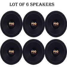"Lot of 6 NEW Pyramid W64 Woofers 6.5"" 200W MidBass Poly Woofer Midrange Speakers"