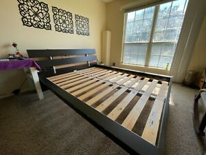 Used IKEA Hopen Queen size Bed Frame with Slats and Central Bar