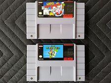 Super Nintendo (SNES) 2 Game Lot - Kirby's Dream Course & Super Mario World
