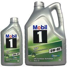 6 Liter Mobil ESP 0W-40 (5L + 1L) | Dexos2 (GM/Opel)