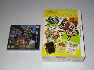 """Monster Hunter 4 G Nintendo 3DS Import Sealed With """"AIROU"""" Accessory Kit Set"""