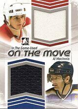 AL MacINNIS  2013-14 ITG   On The Move Double Memorabilia game-used jersey /60