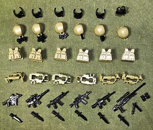 Custom Modern weapon set rifle sniper armour tactical gear   Lego minifigure UK