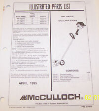McCulloch Mac 328 Gle Gas Lawn Edger Oem Illustrated Parts List