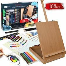 Artina 188 Pieces Easel Set Vincent - Art/Painting Set For Adults & Children