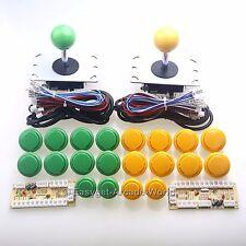 Easyget 2 Player Zero Delay MAME Cabinet DIY Kits Parts & Raspberry Pi 1 2 3 3B