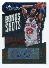 Allan Houston Auto /10 2014-15 Prestige Bonus Shots #84 Die Cut Autograph Knicks