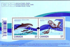 "Canada - Sweden JOINT ISSUE - ""DOLPHINS ~ SEA OTTER"" MNH MS 2010 !"