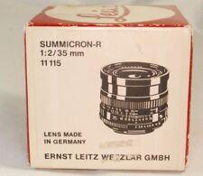 Vuoto Scatola per 11115 Leica Leitz Wetzlar Summicron-R F2.0/35mm Obiettivo