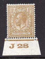 Giorgio V Blocco Lotto 1s Bistro-marrone di controllo J28 HUNGARIAN (I) SG 429 un/Nuovo di zecca