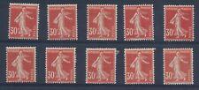 T1069 - TIMBRE DE FRANCE - 10 Exemplaires du N° 160 Neufs* Pour Étude