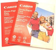 Canon Photo Paper Plus Glossy Two 20 Sheet Packs 8.5 x 11 Inch Size New Sealed