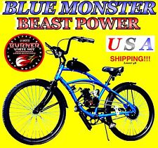2017 DIY BURNER 2-STROKE 66CC/80CC MOTORIZED BICYCLE KIT W/BLUE CRUISER BIKE!