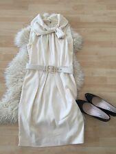 Escada dress vestido blanco 36 lana virgen
