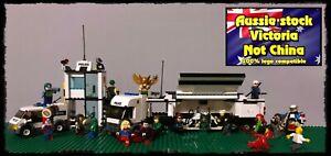 Police Truck, fits Lego, DC  MINIFIGURES Minifigure Batman Joker Bane 21 figs