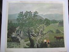 "Anna Robertson Grandma Moses ""The Dead Tree"" 15x17 American Primitive Art Print"