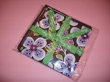 Vera Bradley~Plum Petals~4 Pk Fabric Cocktail Party Napkins- Crafts, Quilts Fun