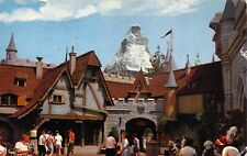 Disneyland, 1960, Message,Swiss Village, Magic Kingdom, ,Old Postcard