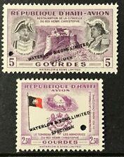 HAITI Sc#C85,C89 1954 Air mail Overprint SPECIMEN Mint NH OG VF/XF SCARCE 13-124