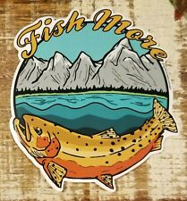 "CUTTHROAT TROUT Sticker Decal fly fishing 4 1/2"" FISH MORE Morgan Brown Design"