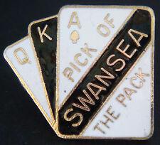 Swansea City FC Pick del envase Vintage Badge Maker Cofre n'ton 30 Mm x 26 mm