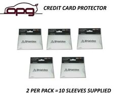 RFID Blocking Shieldex Credit Card Protector Sleeve Anti Theft Scan Safe X 10