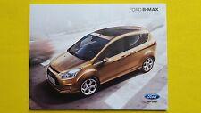 Ford B-Max Studio Zetec Titanium X catalogue sales brochure May 2015 MINT B Max