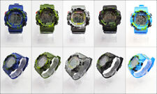 Men's Sport Watch Camouflage Military Design with Digital Display