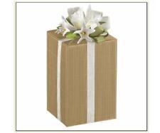 ENSEMBLE N°20 BOÎTE pour FAVEURS DE MARIAGE Cm.10x10x20 MODÈLE VAGUE La Havane à
