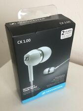 Sennheiser White CX 1.00 Noise Blocking Ear Canal Phones BNIB