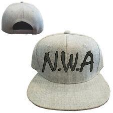 Heather gray wool blend N.W.A Vintage Snapback Cap Hat NWA