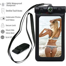 3Pack Waterproof Phone Case Dry Pouch Bag with Lanyard for iPhone Samsung LG
