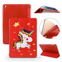 Red star unicorn fold Case For iPad Mini Air 3 iPad 9.7 Pro 10.5 11 12.9 Cover