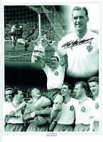 Nat LOFTHOUSE Signed Autograph Bolton Wanderers 16x12 Montage Photo AFTAL COA