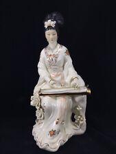 """Large 13.5"""" Antique Chinese Porcelain Guanyin Quan Guan Kwan Yin Statue"""