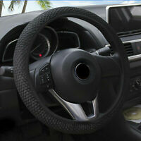 Luxury Car Steering Wheel Cover Pouch Microfiber Soft PU Leather Universal 38cm