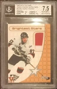 2005-06 In The Game ITG Sidney Crosby Rookie #SCM11 VAULT/1 1/1 BGS 7.5 JERSEYpc