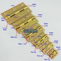 10PCS Antique Golden Color Wire Drawing Solid Brass Door Hinge with Brass Screws