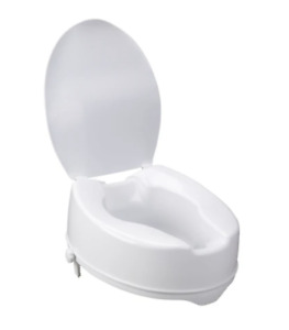 """DRIVE MEDICAL 12067 RAISED TOILET SEAT WITH LOCK AND LID  STANDARD SEAT 6"""""""